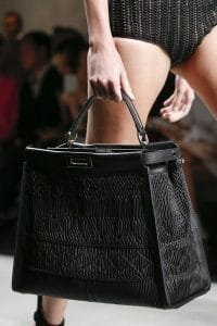 Fendi Black Woven Peekaboo Bag - Spring 2016