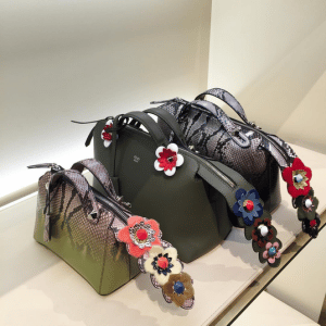 4b891eafccc4 Fendi By The Way Bags with Floral Embellished Tails. IG  dailycherie