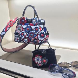 Fendi Floral Embellished Peekaboo Bags