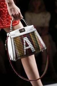 Fendi Multicolor Monogrammed Peekaboo Bag with Strap You 2 - Spring 2016