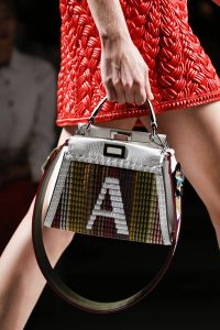 Fendi Multicolor Monogrammed Peekaboo Bag with Strap You - Spring 2016