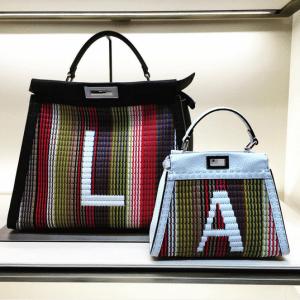 Fendi Multicolor Monogrammed Peekaboo Bags