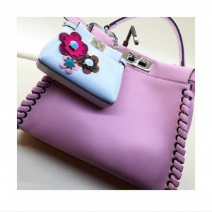 Fendi Pink Interlaced Peekaboo and Light Blue Micro Peekaboo Bags