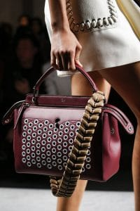 Fendi Red Dot.Com Bag With Braided Strap You - Spring 2016