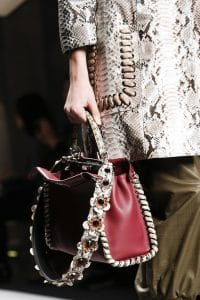 Fendi Red Peekaboo Bag with Strap You - Spring 2016