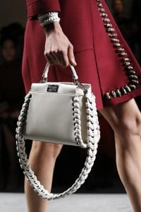Fendi White Peekaboo Bag With Braided Strap You - Spring 2016
