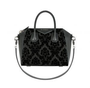 Givenchy Black Velvet Devore Antigona Small Bag