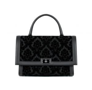 Givenchy Black Velvet Devore Shark Medium Bag