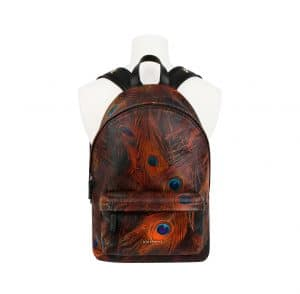 Givenchy Peacock Feather Printed Nylon Backpack Bag