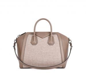 Givenchy Sand Leather/Wool Antigona Medium Bag