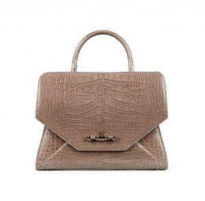 Givenchy Shiny Sand Alligator Obsedia Satchel Small Bag