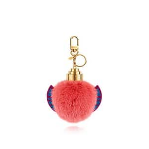 Louis Vuitton Flamingo Fur Monogram Totem Bag Charm