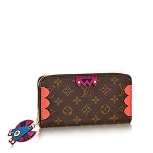 Louis Vuitton Flamingo Monogram Totem Zippy Wallet