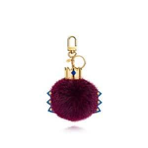 Louis Vuitton Magenta Fur Monogram Totem Bag Charm
