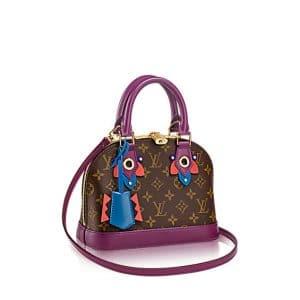 Louis Vuitton Magenta Monogram Totem Alma BB Bag