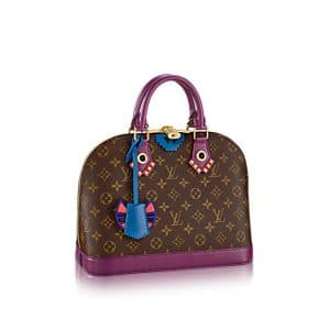 Louis Vuitton Magenta Monogram Totem Alma PM Bag