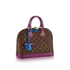Louis Vuitton Magenta Monogram Totem Alma PM Bag