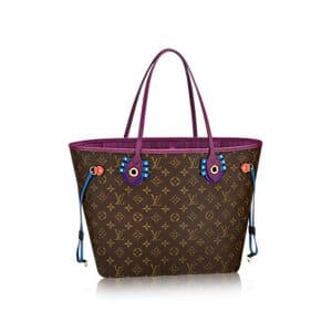 Louis Vuitton Magenta Monogram Totem Neverfull MM Bag
