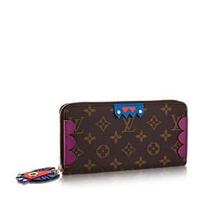 Louis Vuitton Magenta Monogram Totem Zippy Wallet