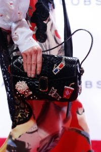 Marc Jacobs Black Embellished Python Flap Bag - Spring 2016