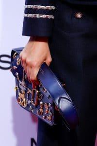 Marc Jacobs Blue Embellished Flap Bag - Spring 2016
