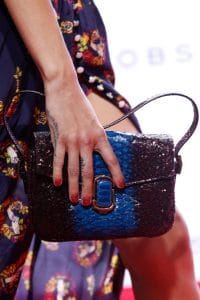 Marc Jacobs Blue/Violet Python Flap Bag 2 - Spring 2016