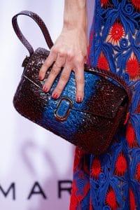 Marc Jacobs Blue/Violet Python Flap Bag 3 - Spring 2016