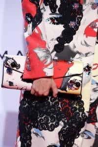 Marc Jacobs Multicolor Printed:Embellished Clutch Bag - Spring 2016