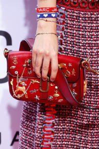Marc Jacobs Red Embellished Flap Bag - Spring 2016