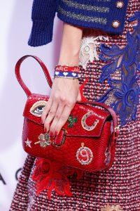 Marc Jacobs Red Embellished Python Flap Bag - Spring 2016