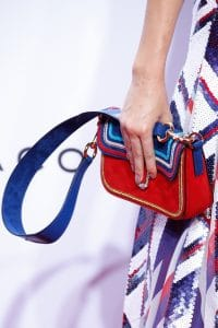 Marc Jacobs Red/Blue Embroidered Flap Bag - Spring 2016