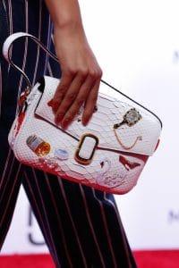 Marc Jacobs White Embellished Python Flap Bag 2 - Spring 2016