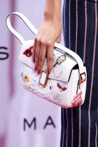 Marc Jacobs White Embellished Python Flap Bag - Spring 2016