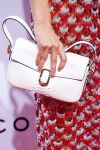 Marc Jacobs White Python Flap Bag - Spring 2016