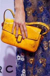 Marc Jacobs Yellow Python Flap Bag - Spring 2016