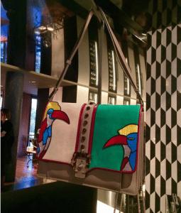 Paula Cademartori Parrot Embroidered Tatiana Flap Bag - Spring 2016