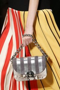 Prada Beige/Silver/Gray Python Flap Bag - Spring 2016