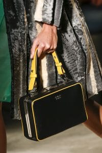 Prada Black/Yellow Box Top Handle Bag - Spring 2016