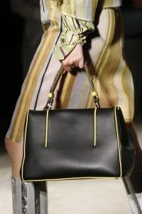 Prada Black/Yellow Top Handle Bag - Spring 2016