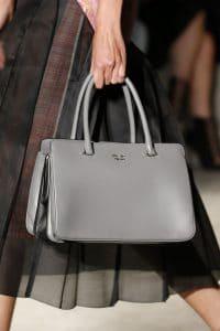 Prada Gray Top Handle Bag - Spring 2016