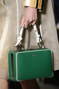 Prada Green/White Box Top Handle Bag -Spring 2016