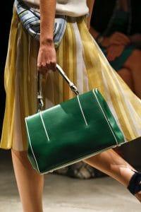 Prada Green/White Top Handle Bag - Spring 2016