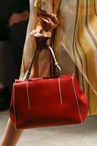 Prada Red/White Top Handle Bag - Spring 2016