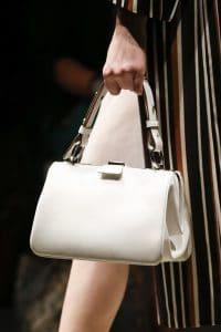 Prada White Top Handle Bag - Spring 2016