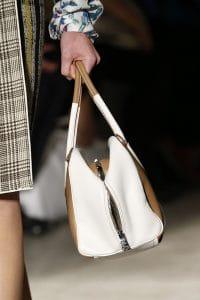 Prada White/Black/Tan Striped Inside Tote Bag 2 - Spring 2016