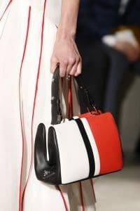 Prada White/Red/Black Striped Top Handle Bag 3 - Spring 2016