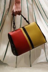 Prada Yellow/Red/Black Top Handle Bag - Spring 2016