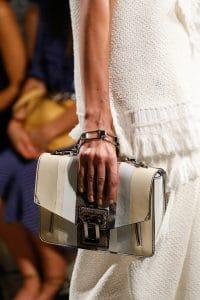 Proenza Schouler Beige/White Striped Flap Bag - Spring 2016