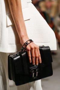 Proenza Schouler Black Striped Flap Bag 2 - Spring 2016