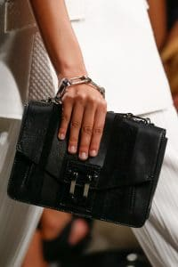 Proenza Schouler Black Striped Flap Bag - Spring 2016